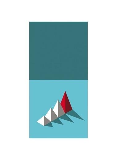 Artikel Üç Boyutlu Üçgen Desenler Dekoratif Çift Taraflı Yastık Kırlent Kılıfı 45x45 cm Renkli